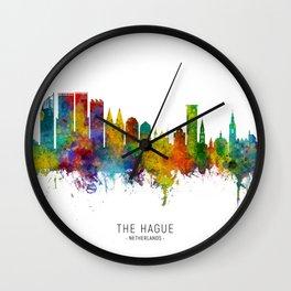 The Hague Netherlands Skyline Wall Clock