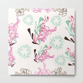 Petite Floral Spring Metal Print