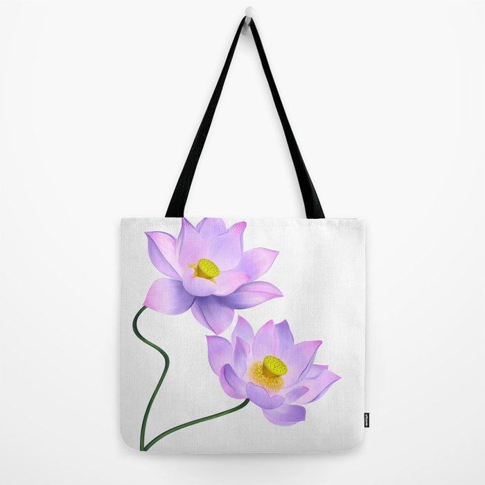 Thamarai, Yellow Flower, Floral Pattern, Yellow Blossom Tote Bag