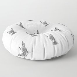 Black and White Baby Donkey Floor Pillow