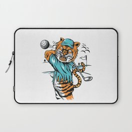 Tiger golfer WITH cap Laptop Sleeve
