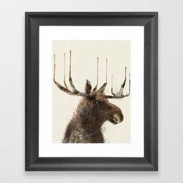 the moose Framed Art Print