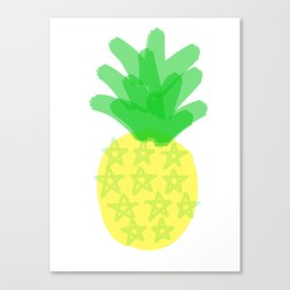 Star spangled pineapple Canvas Print