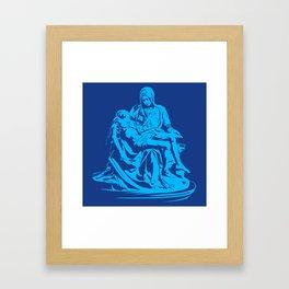 la pieta ,pieta michelangelo , Framed Art Print