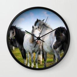 Horses Horses 4 Wall Clock