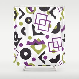 Geometric yellow and purple seamless pattern Shower Curtain