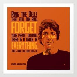 Leonard Norman Cohen Art Print