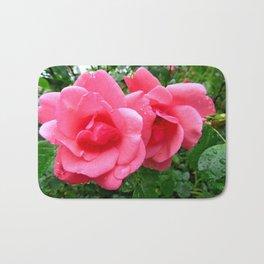 roses after rain Bath Mat