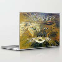 courage Laptop & iPad Skins featuring Courage by Anna Hanse