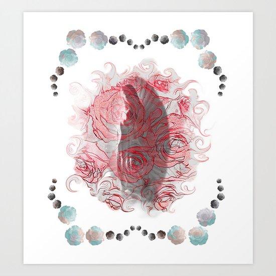 La Virgen de Guadalupe series: Las Rosas II Art Print