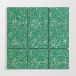 Floral Freeze Mint Wood Wall Art