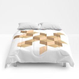 cubes deconstruction Comforters
