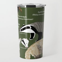 Badgers Meles Genus Poster Travel Mug