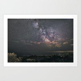 Milkyway at Loblolly Cove Art Print