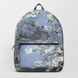 Vincent Van Gogh Almond Blossoms : Steel Blue & Gray Backpack