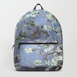 Vincent Van Gogh Almond Blossoms : Steel Blue & Gray Backpack