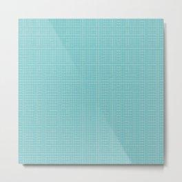 Greenish-Blue Heavenly Adornment Metal Print