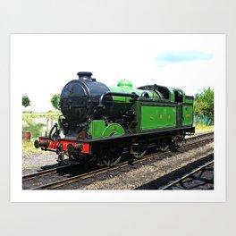 Vintage Steam railway engine Art Print