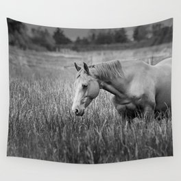 Summer fields (black an white) Wall Tapestry