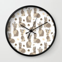 Jackalope Forest Wall Clock
