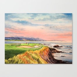 Pebble Beach Golf Course 7th Hole Canvas Print