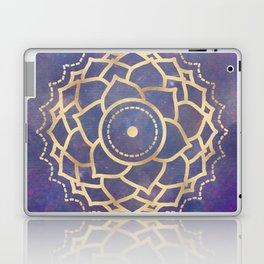 Mandala Chakra Copper and Purple Crown Chakra Laptop & iPad Skin