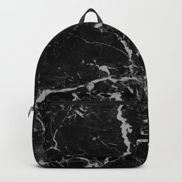 Marble Black Grunge texture Backpack