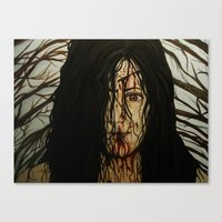 evil dead Canvas Prints featuring Evil Dead by Lydia Dick