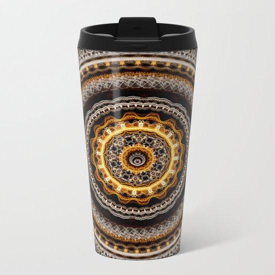 Mandala with tribal patterns Metal Travel Mug