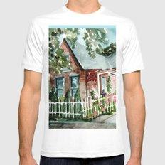 German Village House in Columbus, Ohio White Mens Fitted Tee MEDIUM