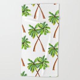 Palm Trees Beach Towel