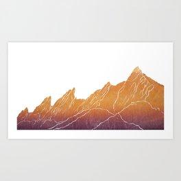 Colorado Mountain Ranges_Boulder Flat Irons Art Print