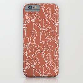 Flowers on Baked Earth iPhone Case