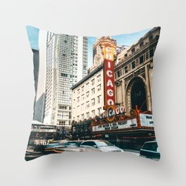 chicago strret Throw Pillow