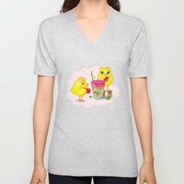 Chickens are preparing a magic elixir. Unisex V-Neck