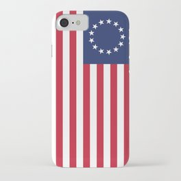 Betsy Ross flag - Authentic color and scale iPhone Case