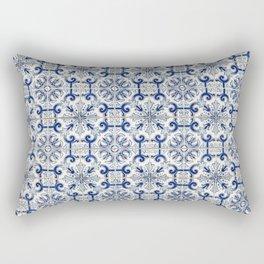 Portuguese tiles pattern blue Rectangular Pillow