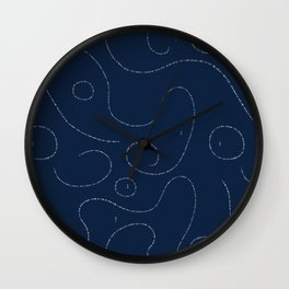 Celestial Stitches Wall Clock