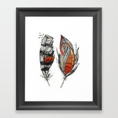 Sunset Feathers Framed Art Print