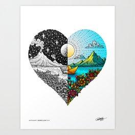 JOURNEY of LOVE - Split - Visothkakvei Art Print