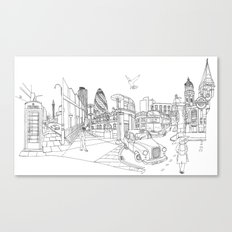 London! Original landscape version Canvas Print