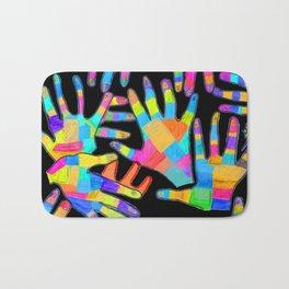 Hands of colors | Hands of light Bath Mat