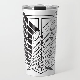 Attack on titan-Wings of freedom- AOT poster- shigenki no kyojin- Levi Acker man, mikasa, historia, Armin, nerd, otaku, geek gifts Travel Mug