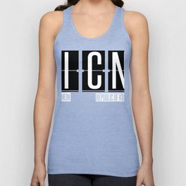 ICN - Incheon - Incheon International Airport South Korea Airport Code Souvenir or Gift Design  Unisex Tank Top
