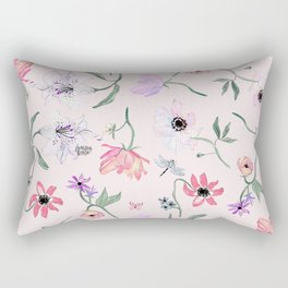 PINK LILY PRINT Rectangular Pillow
