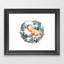Rock-a-bye Baby Boy Framed Art Print