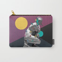 """""""Overwhelming"""" Inner Thoughts Statue Memphis Collage 2 Carry-All Pouch"""