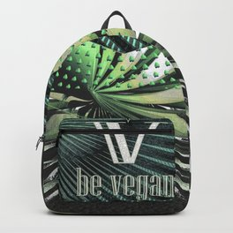 "Veil ""Be vegan"" Backpack"