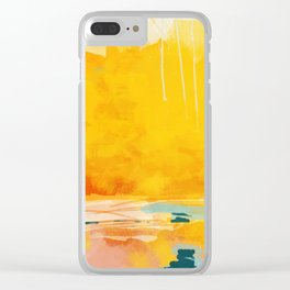 sunny landscape Clear iPhone Case