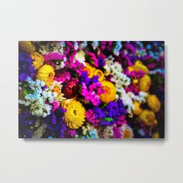 The Flowering Market Metal Print